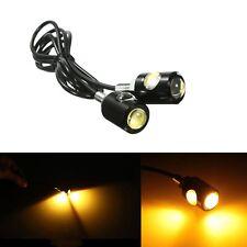Motorcycle LED License Plate Light 12V Screw Bolt Back Tail Fog Lamp Amber Pair