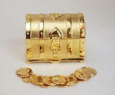 "Elegant Gold Treasure Box Wedding Arras Set with 13 Coins 2.75"" X 2"" X 2"""