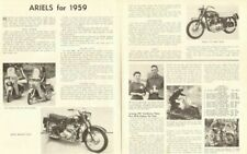1959 Ariel Motorcycle Range 2-Page Article
