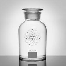 COPPIA di Cubo 1000ml chiaro FARMACIA barattoli. Home Decor. scientifico. laboratorio.