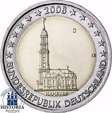 Deutschland 2 Euro Bundesländer Serie - Hamburger Michel 2008 bankfrisch Mzz J