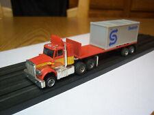 AFX AURORA NOS RARE Peterbilt truck/Flatbed trailer Seatrain Model Motoring NEW