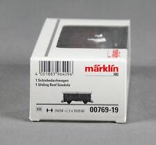Märklin 00769-19 [pista h0 ~] schiebedachwagen tes-t-58 kmmgks mercancía nueva