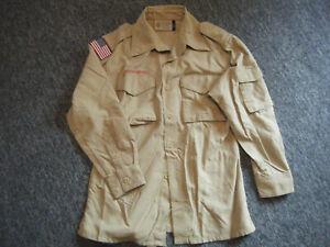 BSA Boy Scout Webelo Khaki shirt Long / Short Sleeve Youth Medium