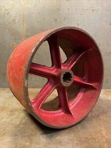"Vintage Flat Belt Pulley For International Harvester Tractor PTO 7.5"" Diameter"