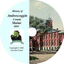1891 History & Genealogy ANDROSCOGGIN County Maine ME
