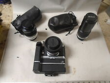 Nikon Camera with MD 2 Drive MB1 Pack and 3 Nikkor Lenses 50 MM 200 MM & 135 MM
