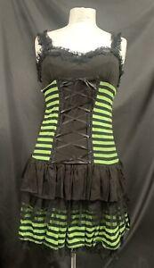 Sdl Raven Green Striped Dress One Size Sm