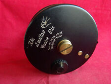"""A GOOD EARLY MODEL DAVE SWALLOW 4 1/2"""" CENTREPIN REEL"""