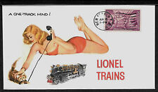 1930s Lionel Trains 400E & Pin Up Girl Featured on Collector's Envelope *A465
