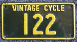 NSW VINTAGE MOTOCYCLE LICENSE/NUMBER PLATE # 122