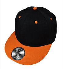100/% COTONE Piatto Picco due toni Snapback Cappellino Baseball Bianco Rosso