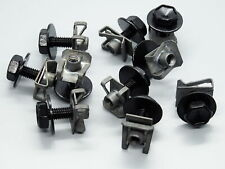 20 Teile Blechmutter Schnappmutter Schrauben mit Unterlegscheiben für KFZ Moto
