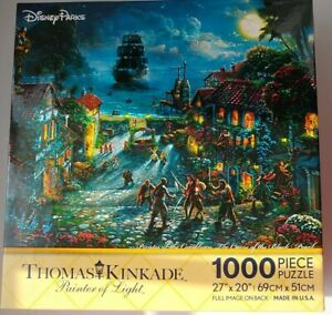 Disney Parks Thomas Kinkade Pirates Of The Caribbean 1000 Piece Puzzle 3379-1