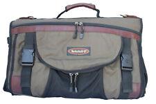 Timberland Tri Fold Brown Burgundy Leather Trim Garment Bag Backpack *No strap*