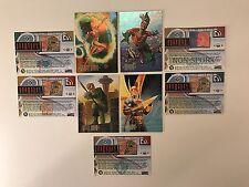 DC MASTER SERIES Skybox Complete FOIL Card Set F1-F4 + PROMOS C1 D1 H1 N1 P1