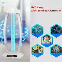 38W UVC Light Ozone Ultraviolet Germicidal Lamp Remote UV Sterilization 220V AU