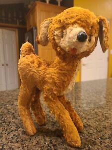 Rare Vintage Stuffed Animal Toy Deer Bambi, straw filling