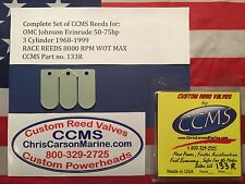 CCMS OMC Johnson Evinrude Racing Outboard Reed Reeds 50-75hp 3cyl. PN133R
