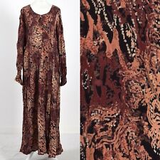 ANIMAL PRINT CRINKLE, BACK CLIP DETAIL 1980's VINTAGE HIPPY BOHO DRESS 18