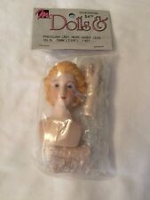 """Mangelsen's Porcelain Lady Head Hands and Legs 161-76 Doll Parts Crafting 2 3/4"""""""