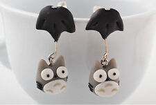 wise owl parachute Polymer Clay Stud Earrings drop hanging handcrafted animal UK