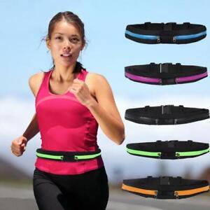 Singie/Dual Pocket Running Belt Adjustable Waist Bag for Outdoor Sports 2021