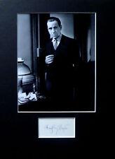 HUMPHREY BOGART signed autograph PHOTO DISPLAY Casablanca Maltese Falcon