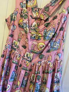 Hell Bunny Maxine Flamingo Rockabilly Dress