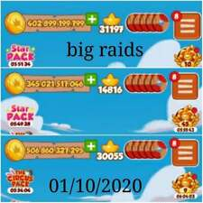 coin master big RAIDS    for  1 month