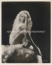 STRIPTEASE DANCER LILLY CHRISTINE IN ONLY A BABYDOLL AND NYLONS 8x10 PHOTO S-LC5