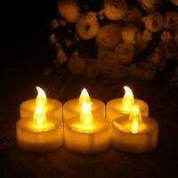 12 PCS Flameless Votive Candles Remote Control Flickering Wedding LED Tea Light