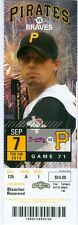 2010 Pirates vs Braves Ticket: Delwyn Young HR/James McDonald Win