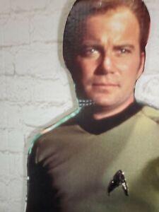 "Star Trek 1992 18"" x 71"" Cardboard Cutout Captain James T. Kirk FAST SHIP"