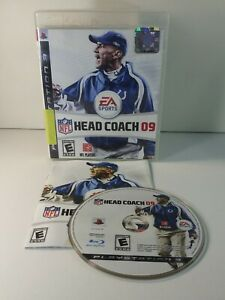 NFL Head Coach 09 PS3 (Sony PlayStation 3, 2008) Complete With Manual CIB Tested