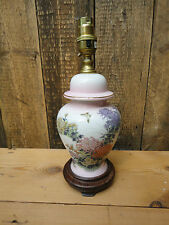 Pink China Floral Flower Table Lamp Light D1