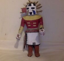 "Vintage Hopi Kachina figure. Cottonwood. Multicolor. Handmade. 10""."