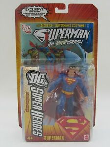 DC Super Heroes Superman Action Figure with Comic Book Mattel 2006