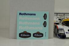 Porsche 956 LH 24 H LE MANS 1983 Winner # 3 1:18 Décalques sponsor no car Minichamp