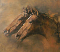 ZWYH548 fancy modern animals two horses  hand painted oil painting art canvas