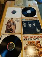 Lot of 7 Vintage Beatles Lp Albums Records Vinyl Rock Mono See Description