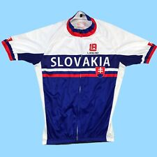 Slovakia Cycling Jersey Team Large White Road Bike Cycle Full Zipper Outdoors