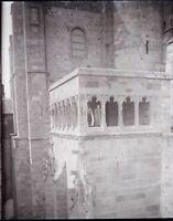 Catedral Negativas Foto Vintage Placa Cristal Estéreo Aprox 1900