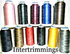 STRONG BONDED NYLON THREAD 60'S, 1000 MTRS, UPHOLSTERY, ASSORTED COLS, X2 CONES