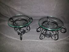 ONE Antique bronze Partylite tart wax or oil warmer-scroll details-2 AVAILABLE