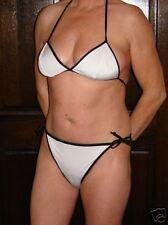 reversable black/ white  bikini in medium size