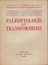 Livre paléontologie et transforrmiste collectif  book