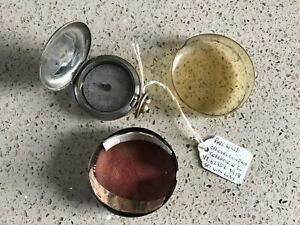 RARE WW1 OFFICER'S COMPASS SETWITH RUBY, TERRASSE W. Co 1918