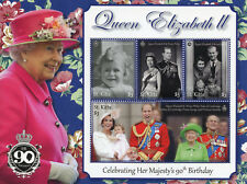 St Kitts 2017 MNH Queen Elizabeth II 90th Birthday 4v M/S Royalty Stamps