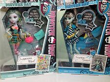 Monster High Picture Day Lagoona Blue and Frankie Stein Dolls...New in Box